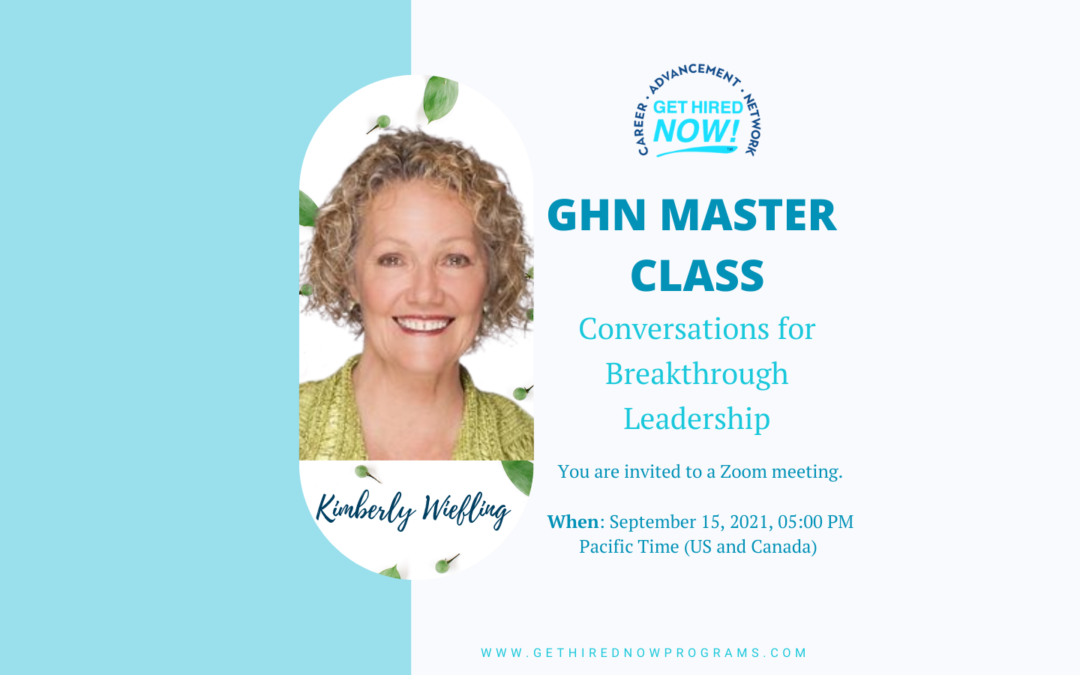 Conversations for Breakthrough Leadership